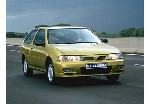 NISSAN Almera hatchback żółty przedni prawy