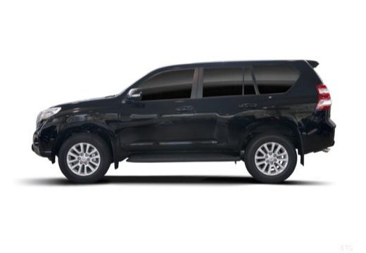 Toyota Land Cruiser 150 II kombi czarny boczny lewy