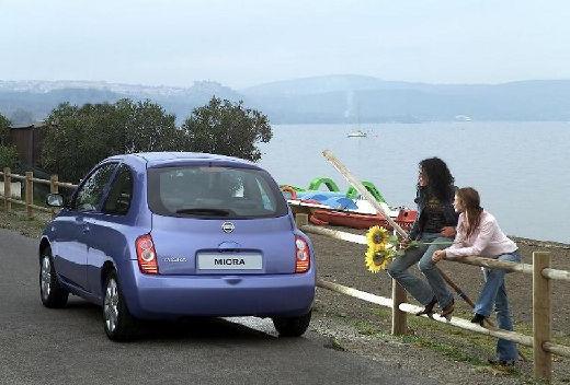 NISSAN Micra V hatchback niebieski jasny tylny lewy