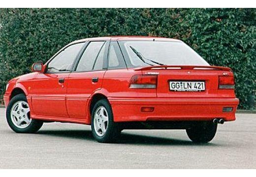MITSUBISHI Lancer hatchback czerwony jasny tylny lewy