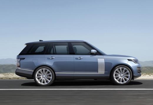 LAND ROVER Range Rover VII kombi niebieski jasny boczny prawy