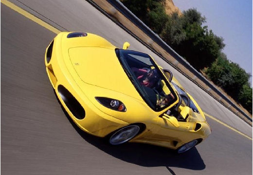 FERRARI 430 F Spider kabriolet żółty przedni lewy