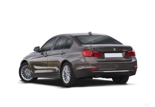 BMW Seria 3 F30 sedan szary ciemny tylny lewy