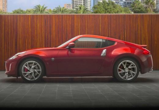 NISSAN 370 Z II coupe czerwony jasny boczny lewy