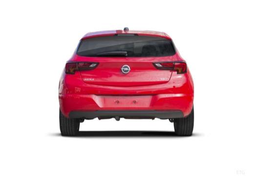 OPEL Astra V I hatchback czerwony jasny tylny