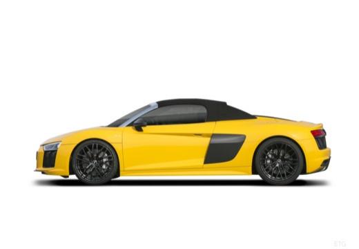 AUDI R8 roadster żółty boczny lewy