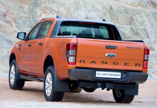 FORD Ranger pickup pomarańczowy tylny lewy