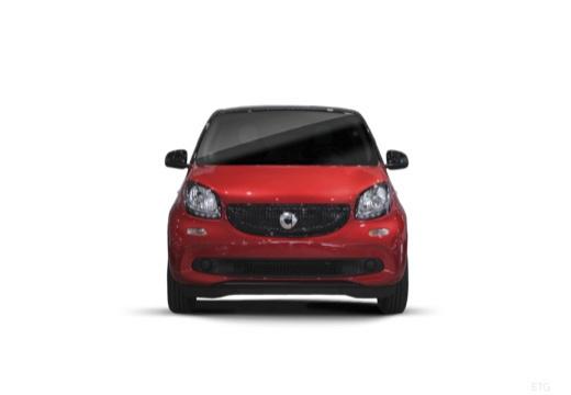 SMART forfour II hatchback czerwony jasny przedni
