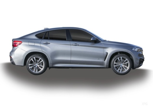 BMW X6 hatchback szary ciemny boczny prawy