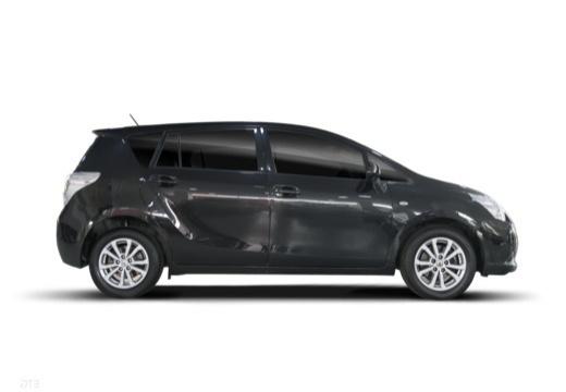 Toyota Verso I kombi mpv czarny boczny prawy