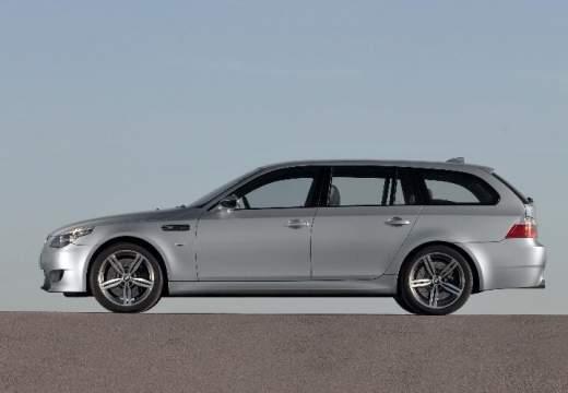 BMW Seria 5 Touring E61 II kombi silver grey boczny lewy