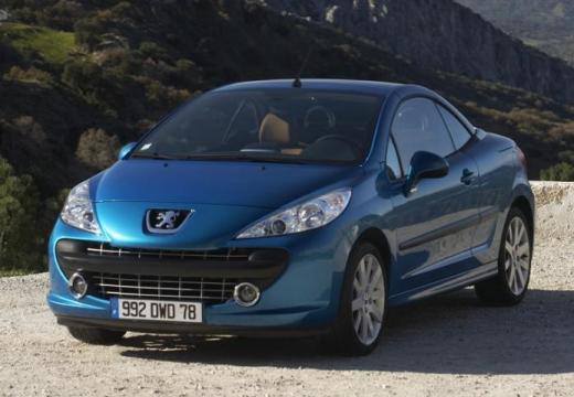PEUGEOT 207 kabriolet niebieski jasny przedni lewy