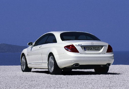 MERCEDES-BENZ Klasa CL coupe silver grey tylny lewy