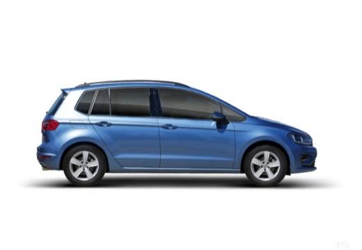 VOLKSWAGEN Golf VII Sportsvan I hatchback niebieski jasny boczny prawy