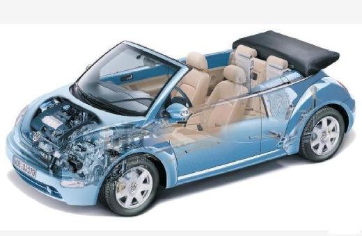 VOLKSWAGEN New Beetle Cabriolet I kabriolet niebieski jasny prześwietlenie