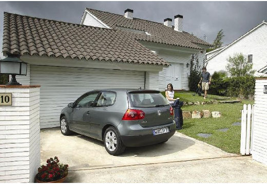 VOLKSWAGEN Golf V hatchback szary ciemny tylny lewy