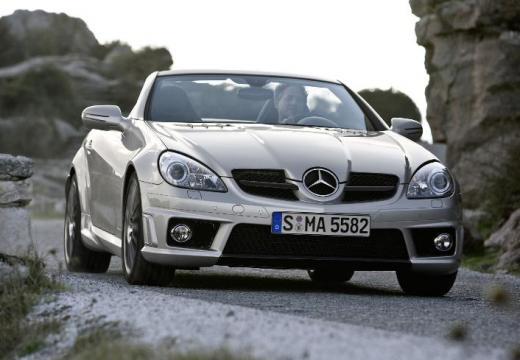 MERCEDES-BENZ Klasa SLK SLK R 171 II roadster silver grey przedni prawy