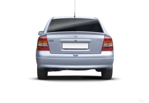 OPEL Astra II hatchback silver grey tylny