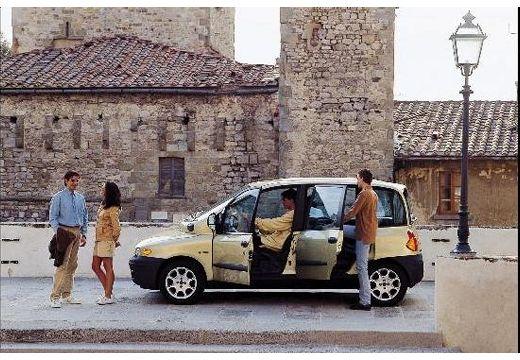FIAT Multipla I kombi żółty boczny lewy