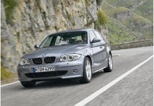 BMW Seria 1 hatchback szary ciemny przedni lewy
