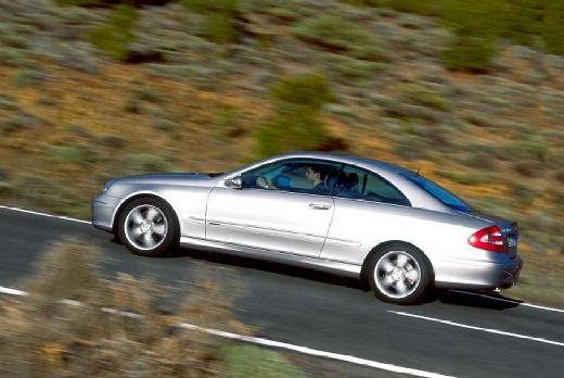 MERCEDES-BENZ Klasa CLK CLK C 209 I coupe silver grey boczny lewy