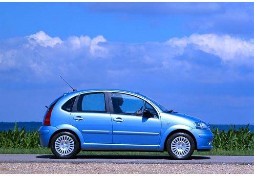 CITROEN C3 I hatchback niebieski jasny boczny prawy