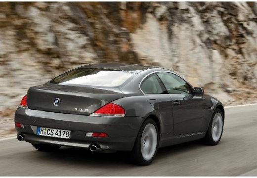 BMW Seria 6 E63 I coupe szary ciemny tylny prawy