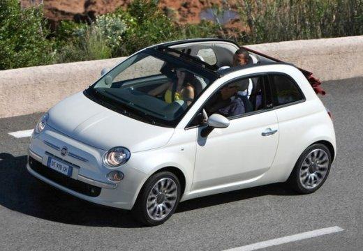 FIAT 500 kabriolet biały przedni lewy