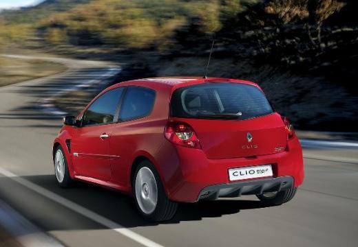 RENAULT Clio III I hatchback czerwony jasny tylny lewy