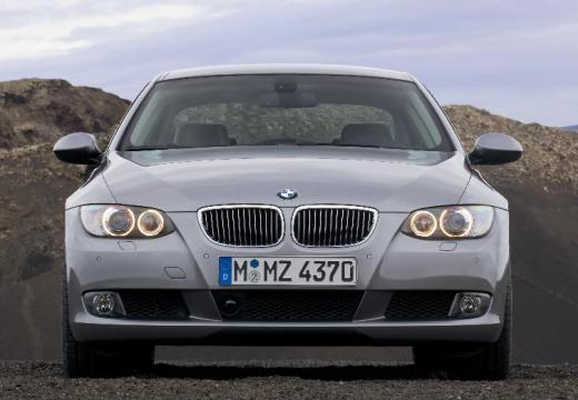 BMW Seria 3 coupe silver grey przedni