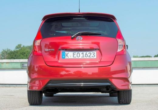 NISSAN Note hatchback czerwony jasny tylny