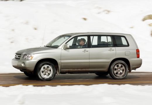 Toyota Highlander kombi silver grey boczny lewy