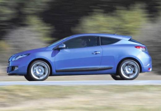 RENAULT Megane III Coupe I hatchback niebieski jasny boczny lewy