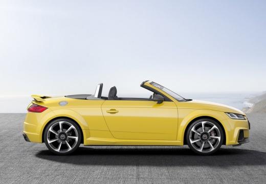 AUDI TT roadster żółty boczny prawy