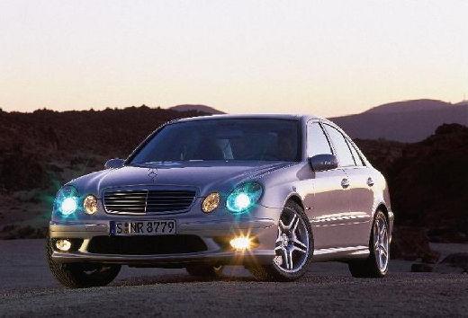 MERCEDES-BENZ Klasa E W 211 I sedan silver grey przedni lewy