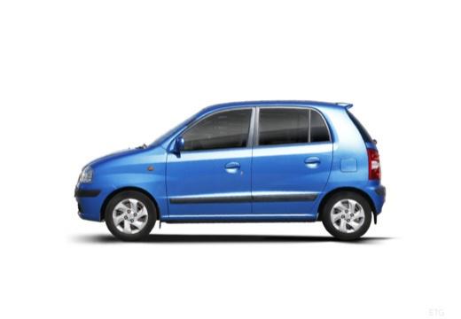 HYUNDAI Atos Prime III hatchback niebieski jasny boczny lewy