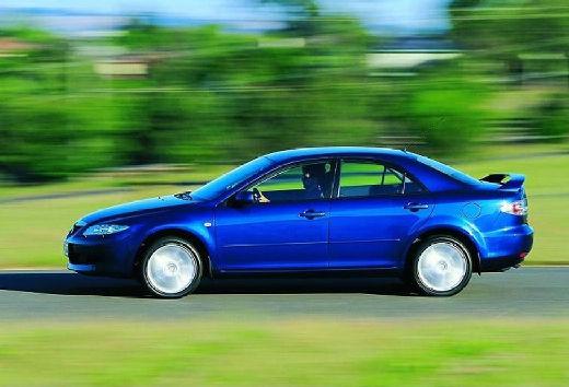 MAZDA 6 I sedan niebieski jasny boczny lewy