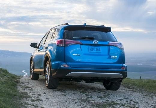 Toyota RAV4 kombi niebieski jasny tylny