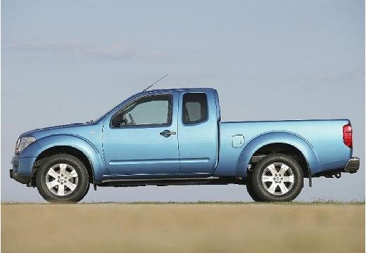 NISSAN Navara II pickup niebieski jasny boczny lewy