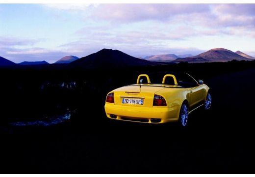 MASERATI 4200 Spyder roadster żółty tylny prawy