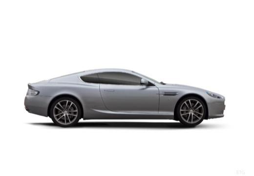 ASTON MARTIN DB9 PL coupe silver grey boczny prawy