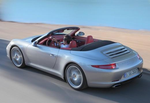 PORSCHE 911 kabriolet silver grey tylny lewy