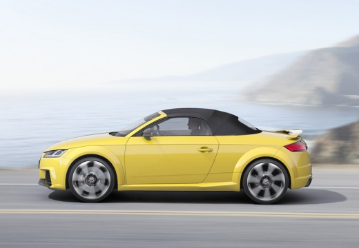 AUDI TT III roadster żółty boczny lewy