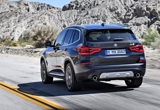 BMW X3 X 3 G01 kombi silver grey tylny lewy