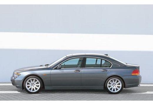BMW Seria 7 E65 E66 I sedan szary ciemny boczny lewy