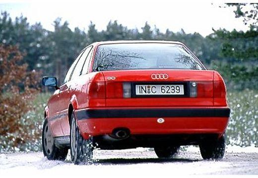 AUDI 80 B4 sedan czerwony jasny tylny lewy