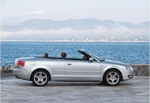 AUDI A4 kabriolet silver grey boczny prawy