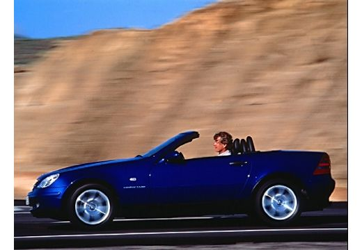 MERCEDES-BENZ Klasa SLK kabriolet niebieski jasny boczny lewy