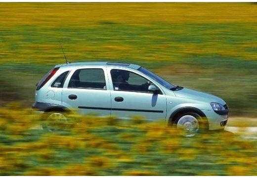 OPEL Corsa C I hatchback zielony jasny boczny prawy