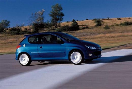 PEUGEOT 206 II hatchback niebieski jasny przedni prawy